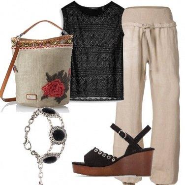 Outfit Rose e lino