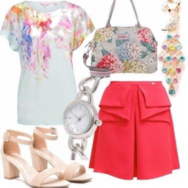 Outfit Un pavone multicolor