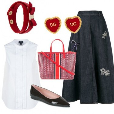Outfit Maxi gonna jeans