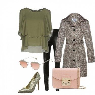 Outfit Verde e rosa che passione