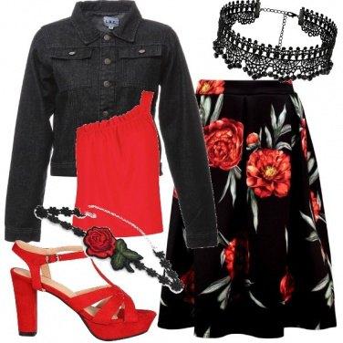 Outfit Rose rosse per te