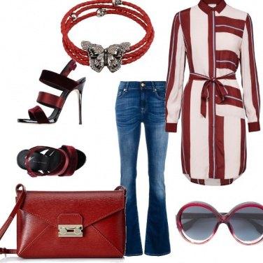 Outfit Jeans e vestito