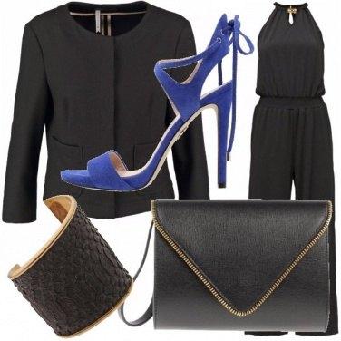Outfit Scarpa blu elettrico e ....