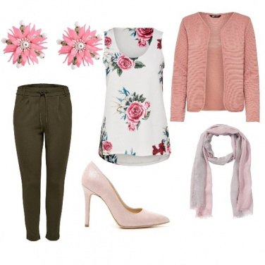 Outfit Look in rosa