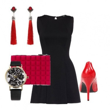 Outfit Serata rossa