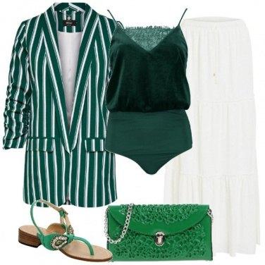 Outfit Intrecci di verde