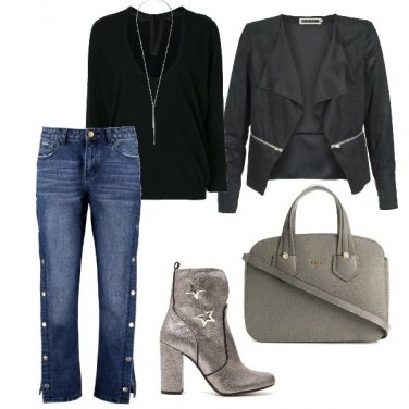 Outfit Lo stivaletto argento
