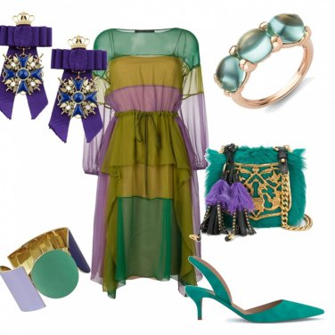 Outfit Violet&Green