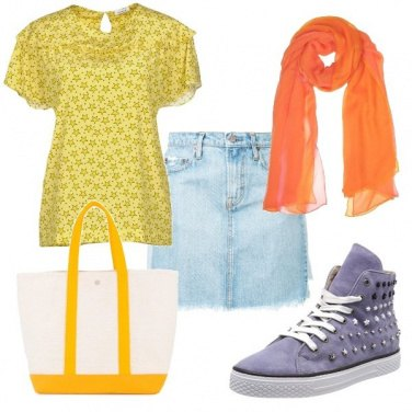 Outfit Sneakers con borchie
