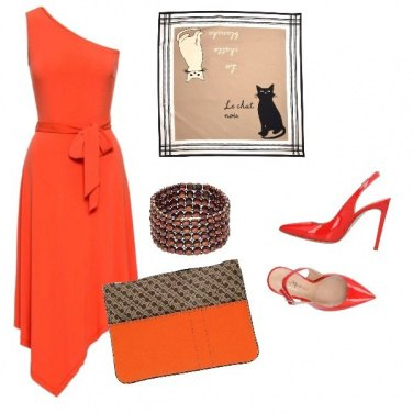 Outfit Red cat