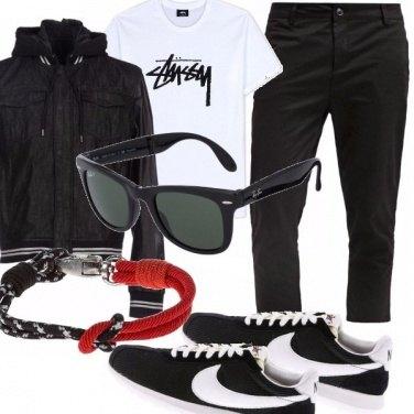 Outfit La griffe nella giacca e nelle scarpe