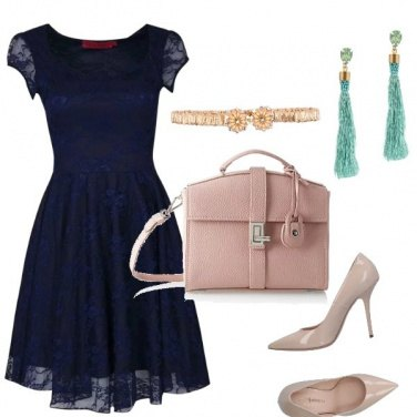 Outfit Blue and Powder pink
