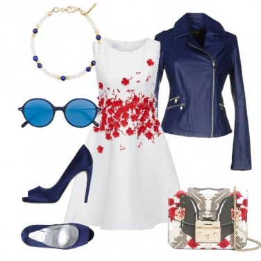 Outfit Red blue