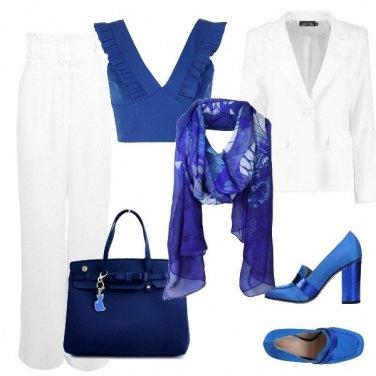 Outfit In ufficio bicolore