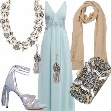 Outfit Matrimonio di sera in azzurro