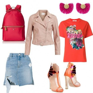 Outfit Orange Peacock Ankle Boots
