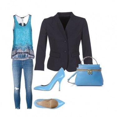 Outfit Primavera Azzurra