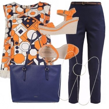 Outfit Blu & orange galore