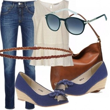 Outfit Jeans, san gallo e cuoio