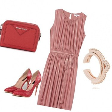 Outfit Red and pink
