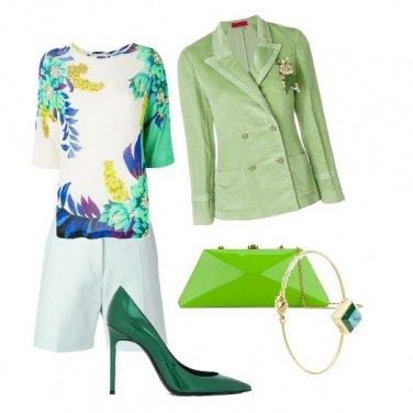 Outfit Verde primavera
