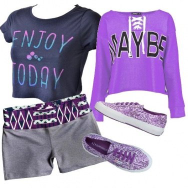 Outfit Violet sport