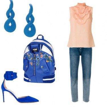 Outfit Zaino blu