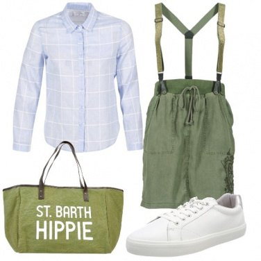 Outfit Bretelle military