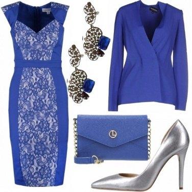 Outfit Classica in bluette e argento