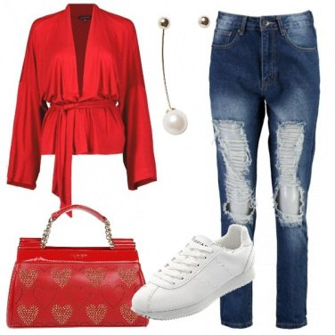 Outfit Fashion in rosso