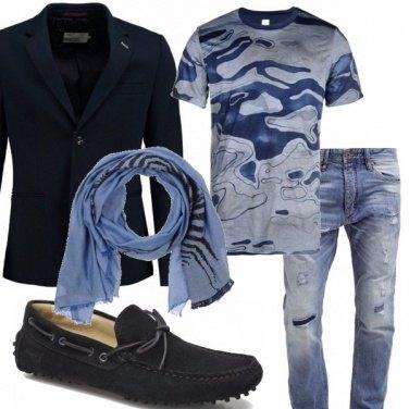 Outfit Tutti i toni del blu...