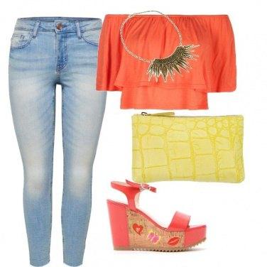 Outfit Toco di arancione