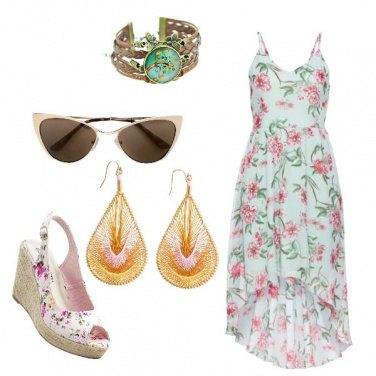 Outfit Fiori e rosa