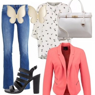 Outfit Jeans a zampa