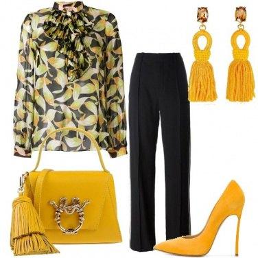 Outfit Foglie e oro