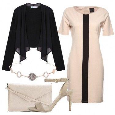 Outfit Tubino con striscia a contrasto