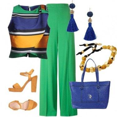Outfit Verde in ufficio