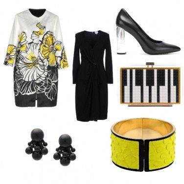 Outfit La signora in giallo e nero