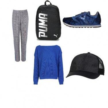 Outfit Sportivo in blu