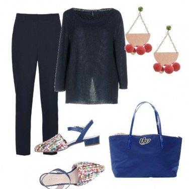 Outfit Ufficio, bluette e blu