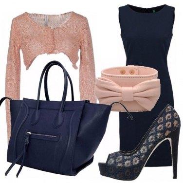 Outfit Delizioso blu e rosa