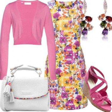 Outfit Fiori colori pastello
