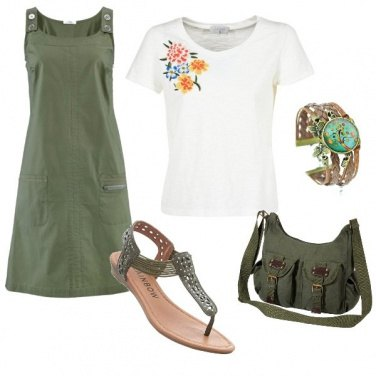 Outfit In verde militare