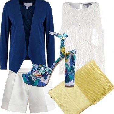 Outfit Un tocco di bluette e giallo