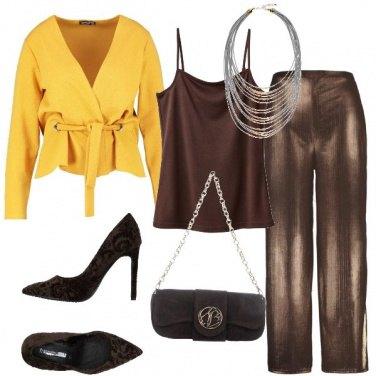 Outfit Pantaloni morbidi marroni