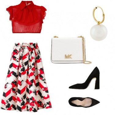 Outfit Signorina in rosso