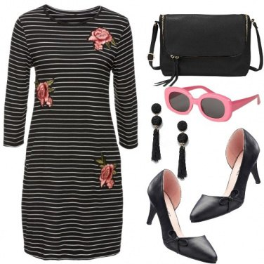 Outfit Stripes and roses