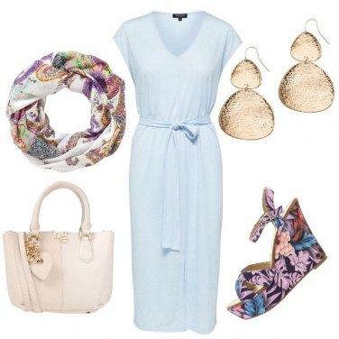 Outfit Abitino celeste easy