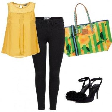 Outfit Stripes lemon