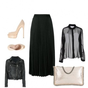 Outfit Trasparenza glam